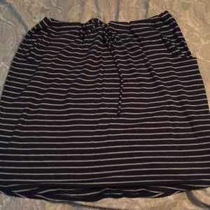 Sonoma cotton skirt blue and gray stripes